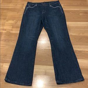 SALT work med rise flare jeans size 14